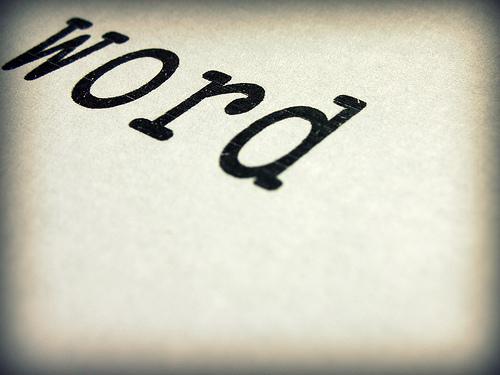 blogging word