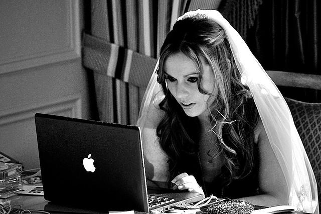 bride in computer
