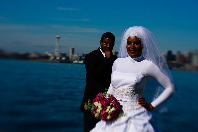 Confident Bride Worried Groom