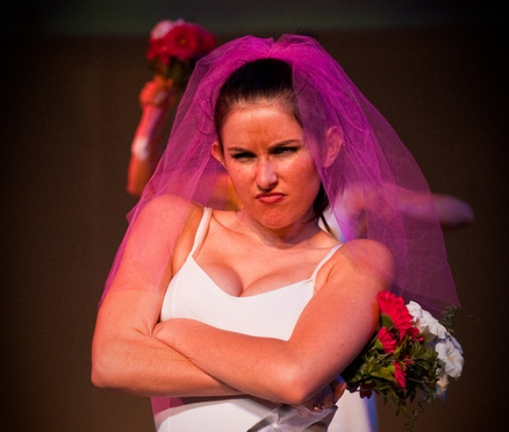 angry pouty bride