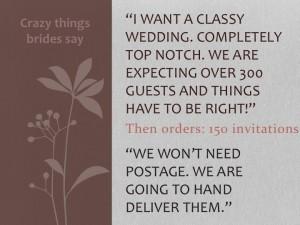 Crazy things brides say 3