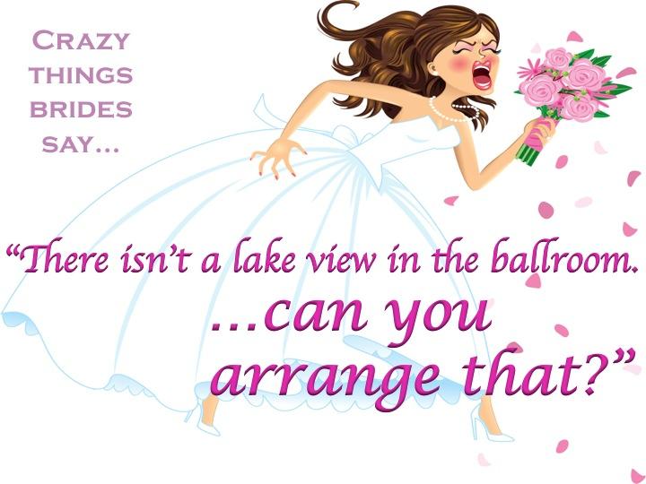 Crazy Things Brides Say Part 1