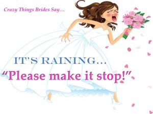 Crazy things brides say