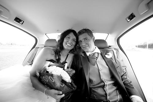 couple inside the car