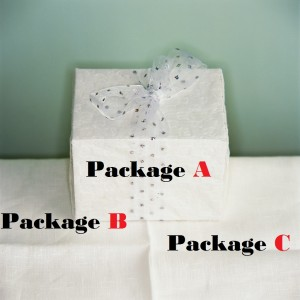 packages in boxes