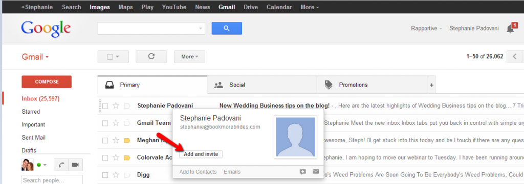 Gmail Add Contact