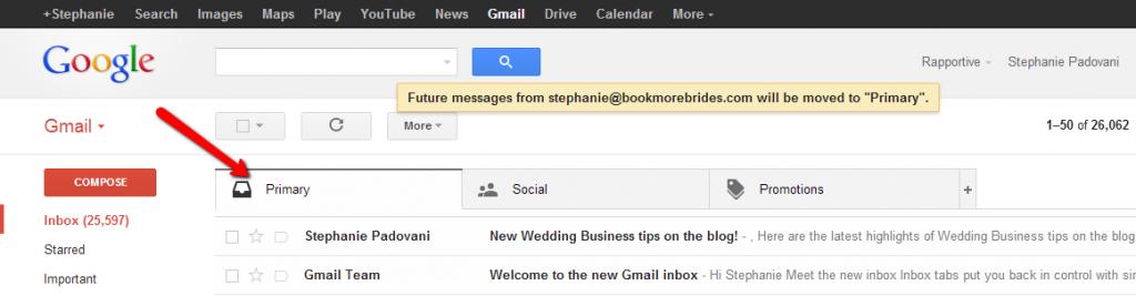 Gmail Inbox Primary Folder