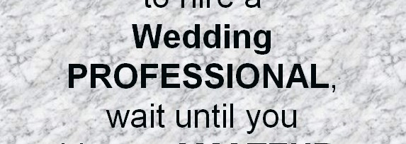 Hire a Wedding Professional
