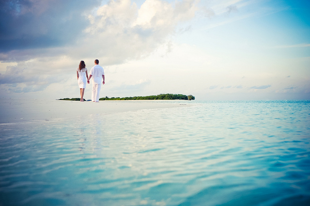 Surreal Beach Couple