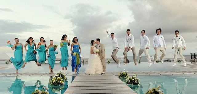 Jumping-Bridal-Party