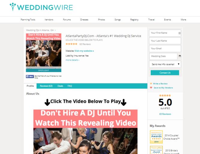 Wedding Wire ads