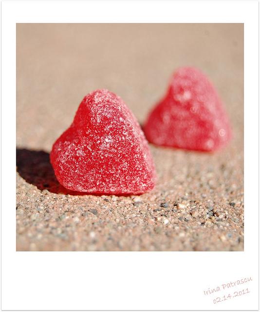 2 stone hearts