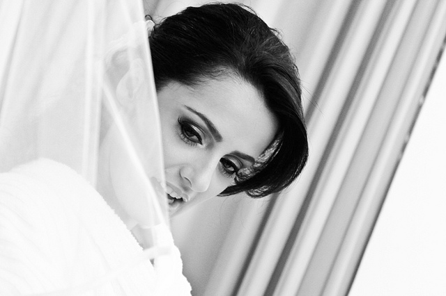 Pretty Bride with veil