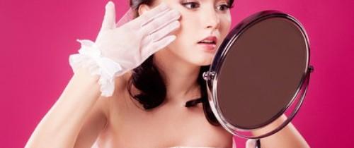 bride with a mirror