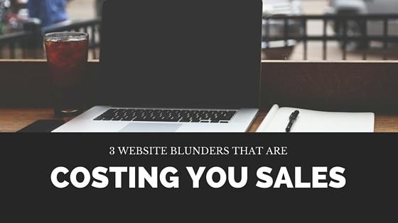 3 website blunders